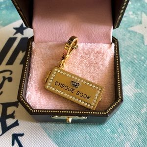 Juicy Couture Jewelry - Juicy Couture Rare Cheque Book Gold Charm w/ Box
